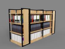 钢木书店中岛货架
