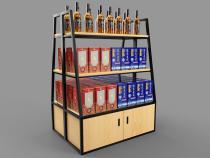 钢木酒中岛架