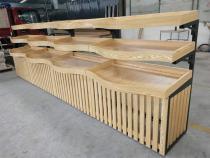 弧形钢木果蔬台